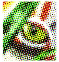 dots cat eye vector image