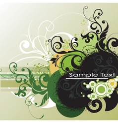 graphic floral background vector image vector image