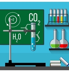 Science classoom Education concept Flat style vector image vector image