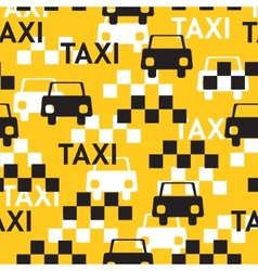 Taxi Seamless pattern with symbols taxi vector image vector image