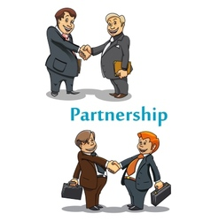 Businessman handshake and partnership vector image vector image