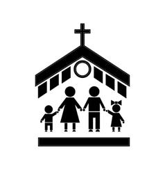 Church Stick Figure vector image
