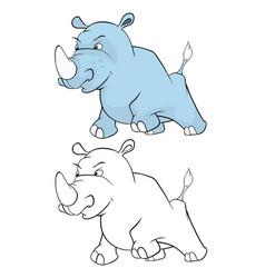 cute little hippo cartoon vector image