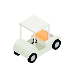Golf car isometric 3d icon vector