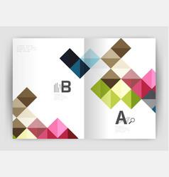 minimalistic square brochure or leaflet business vector image