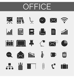Business and office icons set Trendy line icons vector image