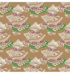 Christmas tree pattern design pastel vector image