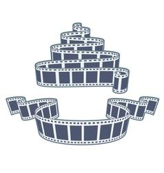 Ciinema video film tape vector image vector image