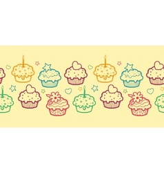 Colorful muffins horizontal seamless pattern vector image vector image