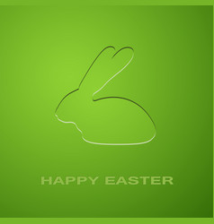 easter green rabbit vector image
