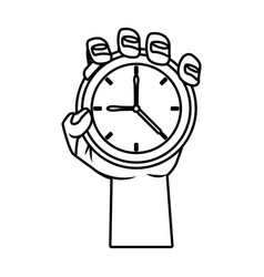 hand with pocket clock vector image vector image
