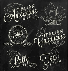 Names of coffee drinks vector image vector image
