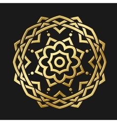 Round Gold Ornament vector image vector image