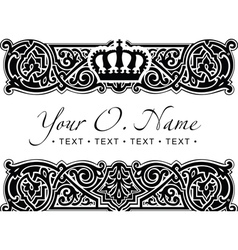 Small Title Frame and Pattern vector image