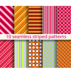 10 seamless patterns vector