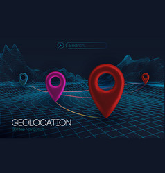 3d map navigation pointers vector