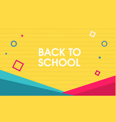 Abstract back to school design vector