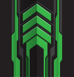 abstract green gray arrow futuristic vector image