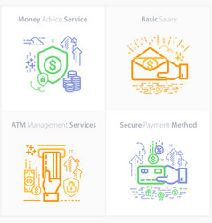banking and finance icon set money advice vector image