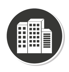 Building construction silhouette icon vector