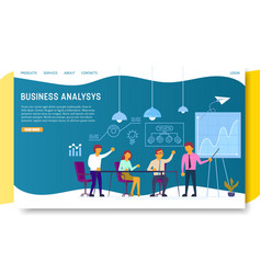 business analysis landing page website vector image