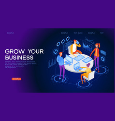 business conference web banner vector image