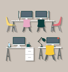 businesswoman and businessman desk vector image