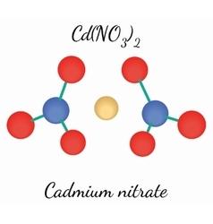 Cadmium nitrate CdN2O6 molecule vector image