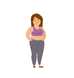 Cartoon character of fat woman and girl sitting vector