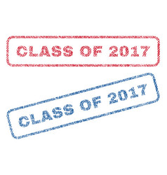 Class of 2017 textile stamps vector