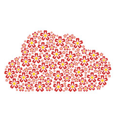 cloud collage of flower icons vector image