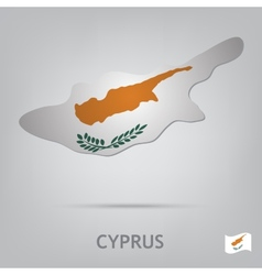 country cyprus vector image