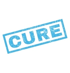 Cure Rubber Stamp vector