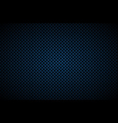 Dark abstract background with blue corners carbon vector