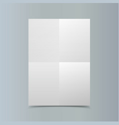 Empty vertical white paper poster mockup on vector