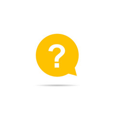 faq sign in speech bubble with shadow vector image