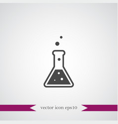 flask icon education vector image