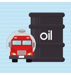 Gasoline truck isolated icon design vector image