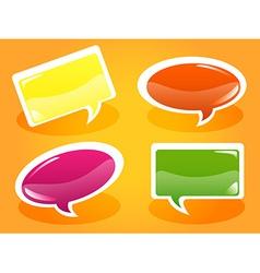 Glossy speech bubbles vector