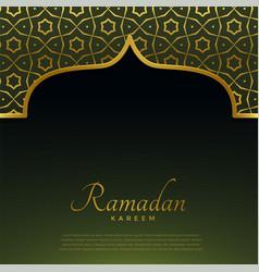 golden mosque door with islamic pattern vector image