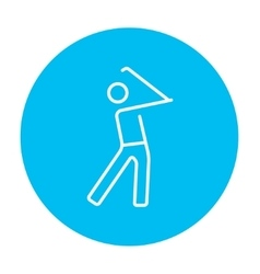 Golfer line icon vector image