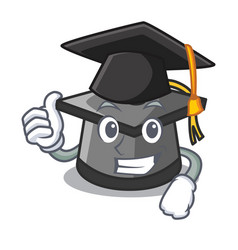 Graduation graduation hat character cartoon vector
