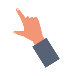 Hand holding clicking something vector