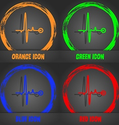 Heartbeat icon Fashionable modern style In the vector image