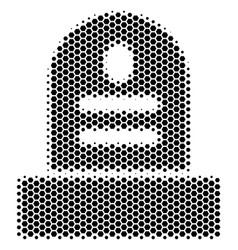 Hexagon halftone grave icon vector