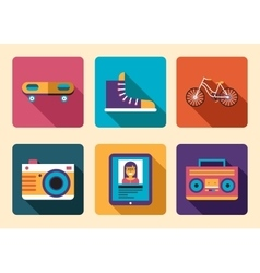 Hipster Icon Accessories vector image