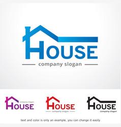 House logo template design vector
