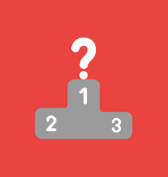 icon concept of question mark on top of winners vector image