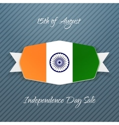 India Independence Day realistic Badge vector
