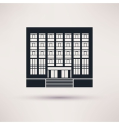 Institute university Icon in the flat style vector